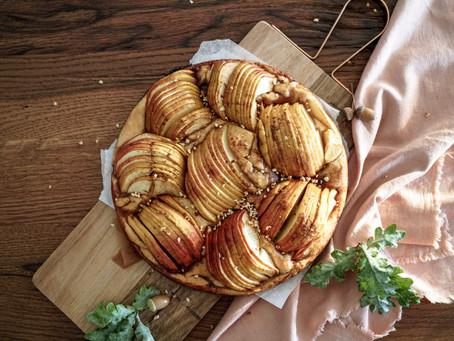Herbstlicher veganer Apfelkuchen