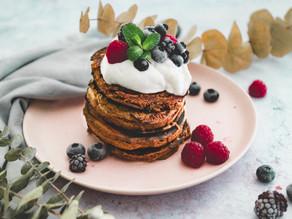 Glutenfreie und vegane Bananen Pancakes