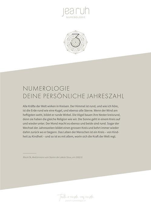 Persönliche Jahreszahl 3 (Online Version)