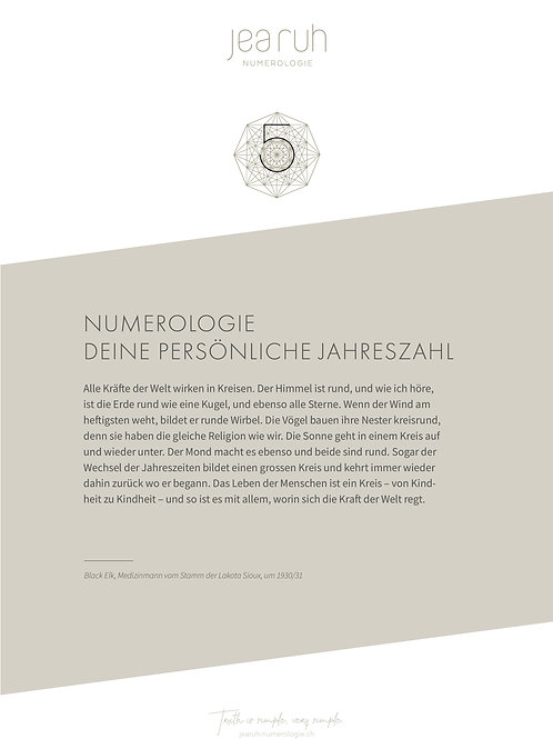Persönliche Jahreszahl 5 (Print Version)