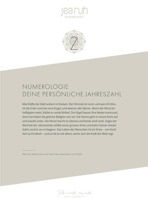 Persönliche Jahreszahl 2 (Online Version)
