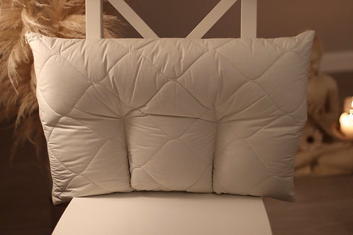 Ergonomic Pillow with 1 big and 3 small compartments