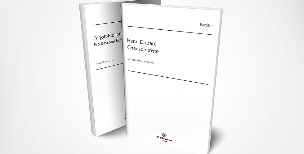 Henri DUPARC, Chanson triste, Partitur und Stimmen