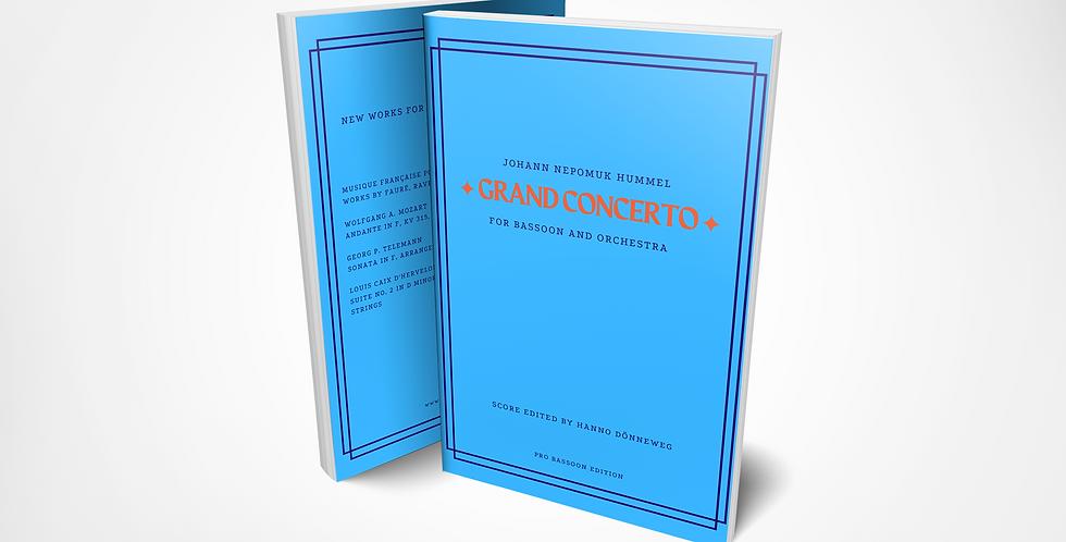 Johann N. HUMMEL, Grand Concerto in F für Fagott und Orchester