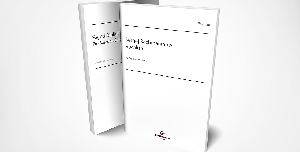 Sergej RACHMANINOW, Vocalise, Partitur und Streicherstimmen