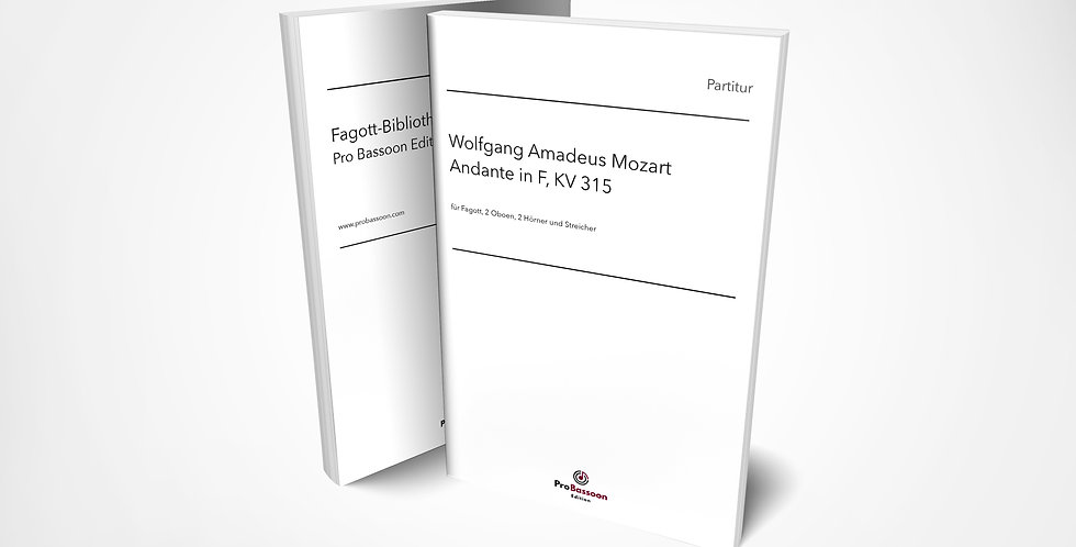 Wolfgang A. MOZART, Andante in F, KV 315, Partitur und Orchesterstimmen