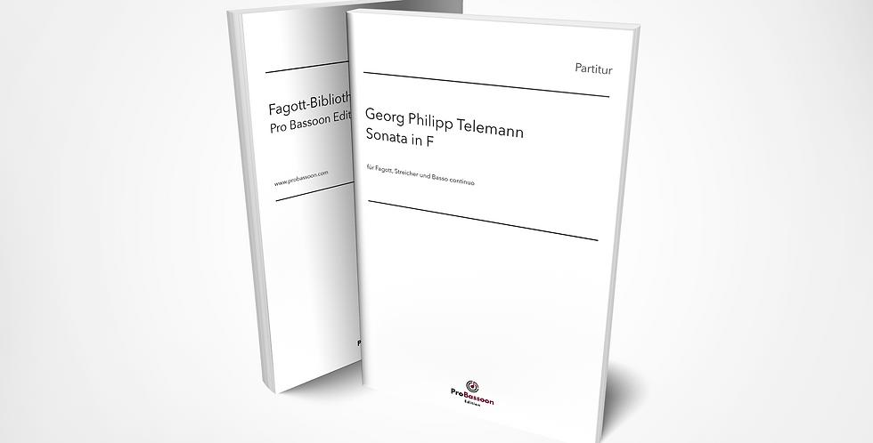 Georg Philipp TELEMANN, Sonata in F, Partitur und Orchester-Stimmen