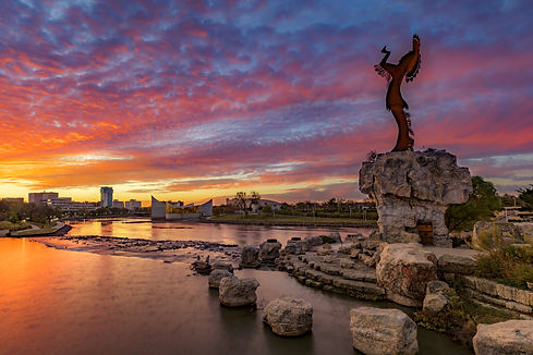 Keeper of the Plains and City Skyline at