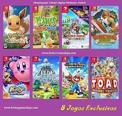 Desb. Nintendo Switch + 8 Jogos Exclusivos + Netflix 1 mês