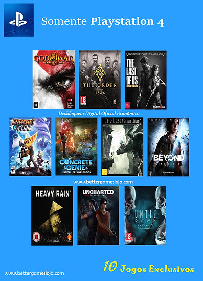 Desbloq. Playstation 4 + 10 Jogos Exclusivos