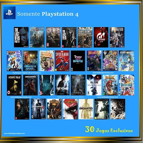 Desbloq. Playstation 4 + 30 Jogos Exclusivos