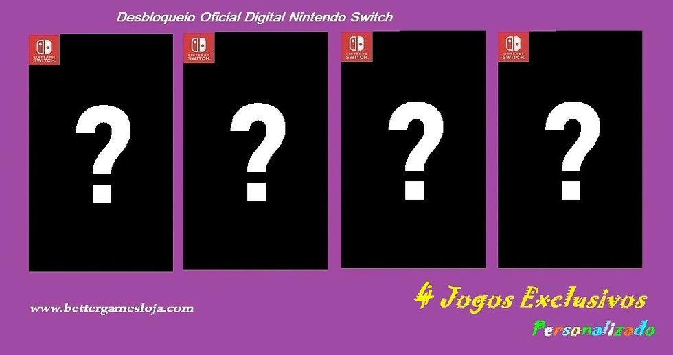 Desbloq. Nintendo Switch + 4 Jogos Exclusivos Personalizado