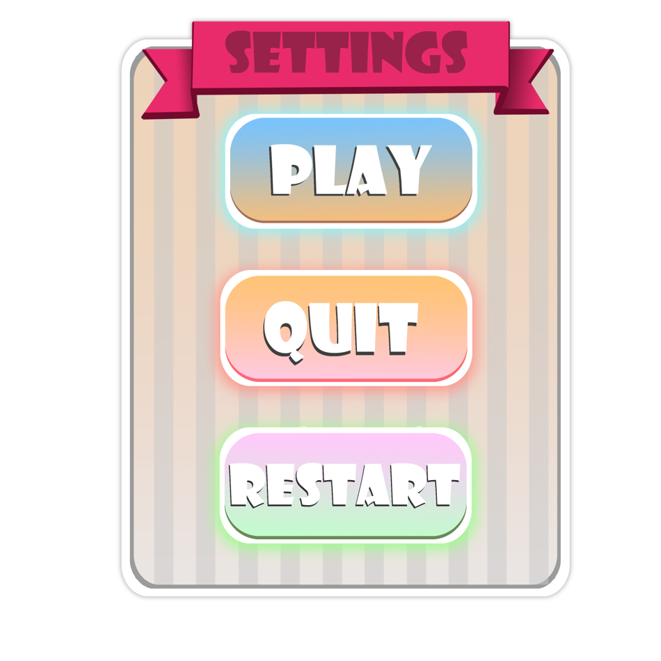 Example of UI made for the game.