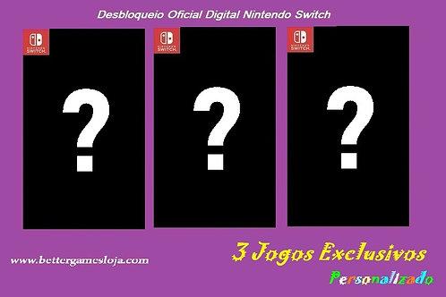 Desbloq. Nintendo Switch + 3 Jogos Exclusivos Personalizado