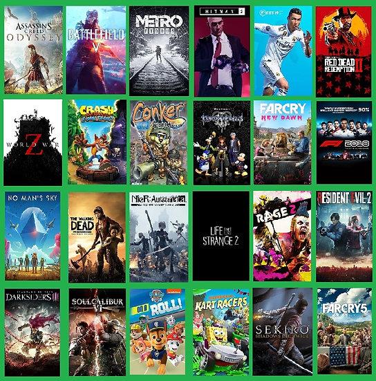 Desbloqueio Xbox One + 8 Jogos + 2 Lançamentos 2020-2021