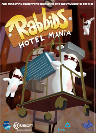 Poster for Rabbids: Hotel Mania.