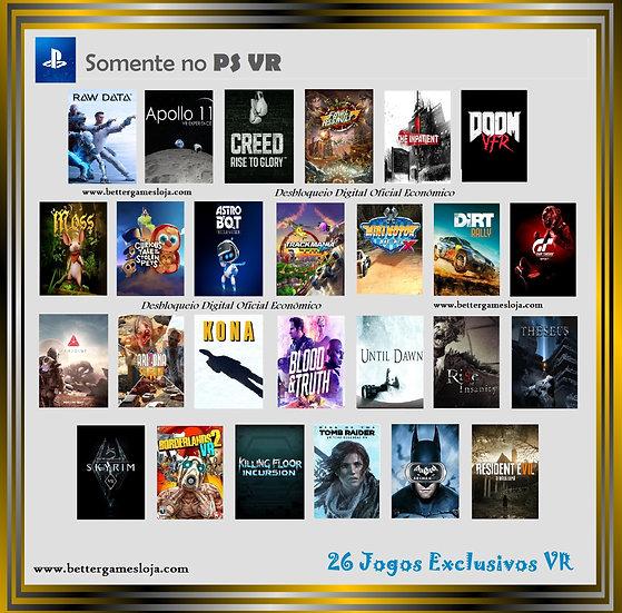Desbloq. Playstation VR  + 26 Jogos Exclusivos VR