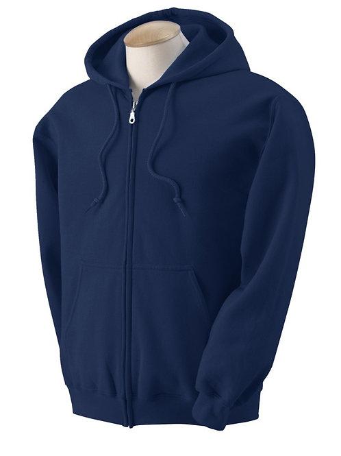 Navy Zippered Hoodie