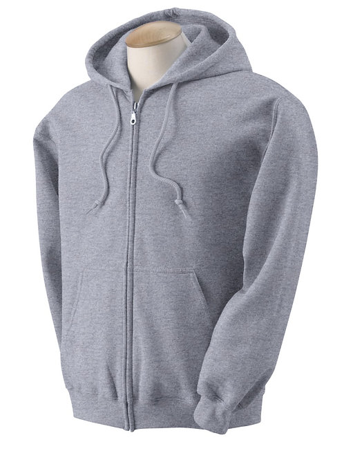 Sports Gray Zippered Hoodie