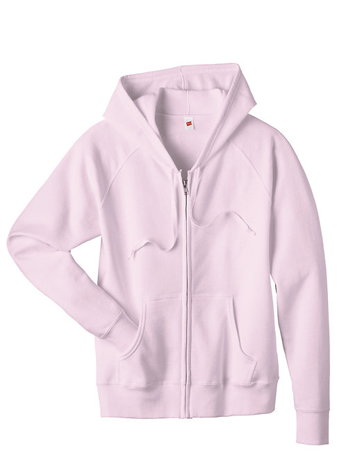 Light Pink Zippered Hoodie