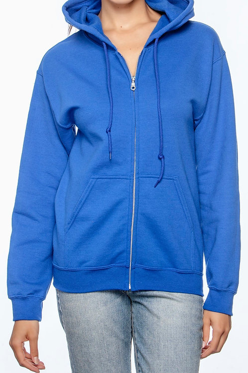 Royal Blue Zippered Hoodie