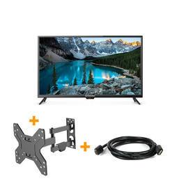 3 en 1 Téléviseur HD DEL 720p de 32 po avec Câble HDMI & Supports TV Mural
