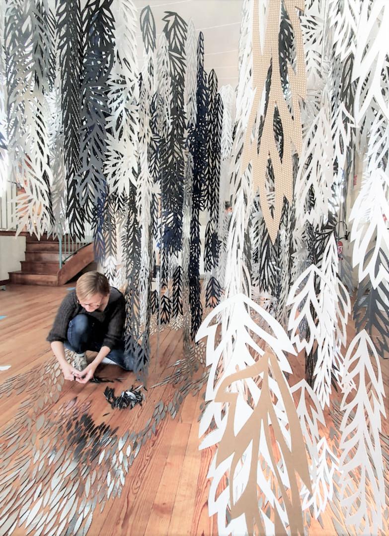 """""""Permanence / Impermanence"""" / """"Eau par Nature"""", work in progress, Centre culturel des Carmes, Jonzac"""