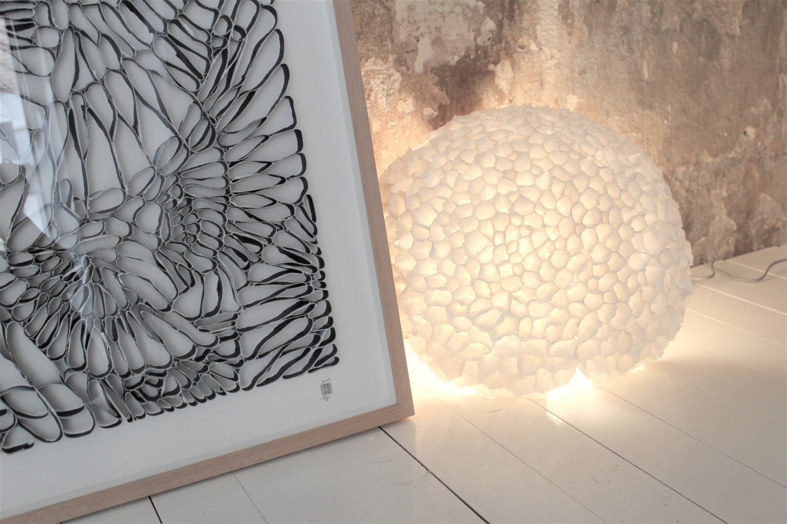 """Murmuration"" and light sculpture"