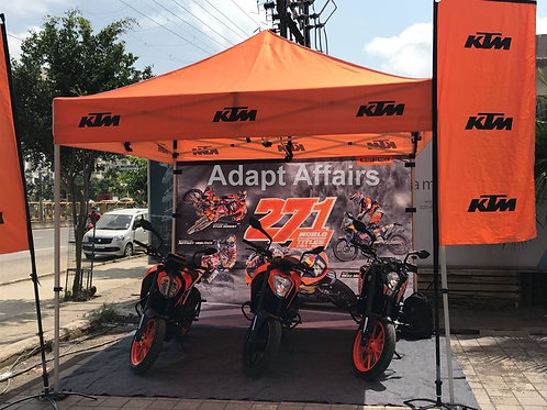 Promotional Tents for KTM