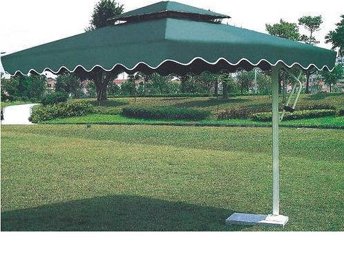 Aluminium Side Pole Green Umbrella