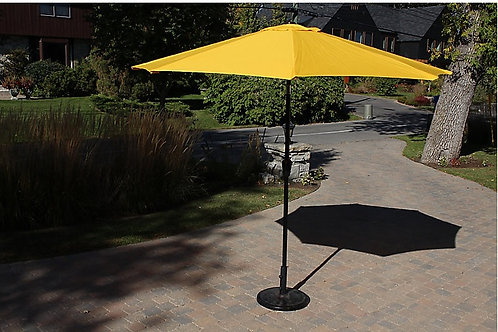 Metal Center Pole Umbrella Yellow