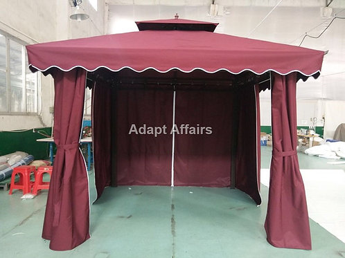 Garden Gazebo Tent 10 x 10 Feet Maroon