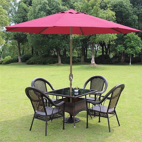 Metal Center Pole Umbrella Maroon