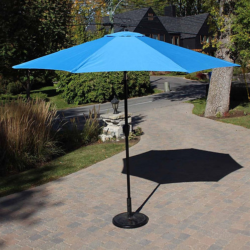 Metal Center Pole Umbrella Blue