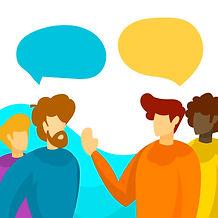 Flat People Talking Vector Illustration-