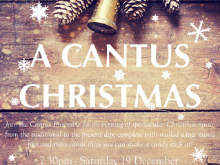 Preparing for a Cantus Christmas