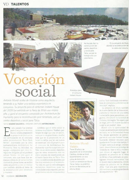Talentos.  Revista VD