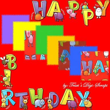 TDS0005 ~ Happy Birthday Animals Kit