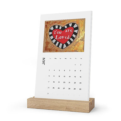 Vertical Desk Calendar