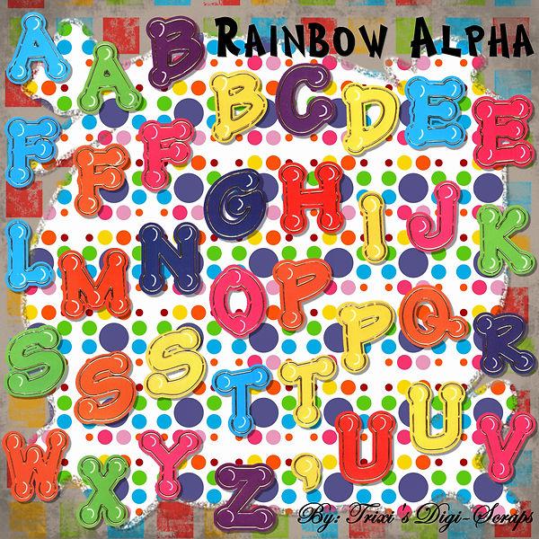 TDS-ALPHA001 ~ Rainbow Alpha Set