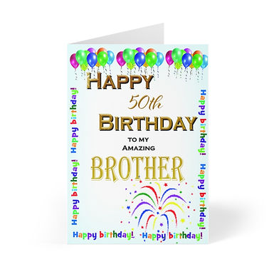 Birthday 20181109, Brother Greeting Cards (8 pcs)