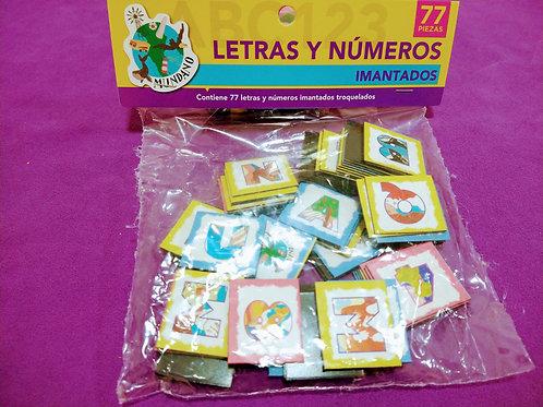 letras y numeros imantados