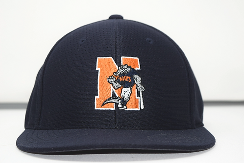 Navy Fitted Game Day Baseball Cap