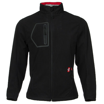 Unisex Heated Fleece Jacket, Black