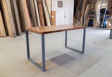handmade wood computer desk