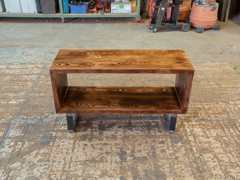 Reclaimed Wood Vinyl Record Console - $1300