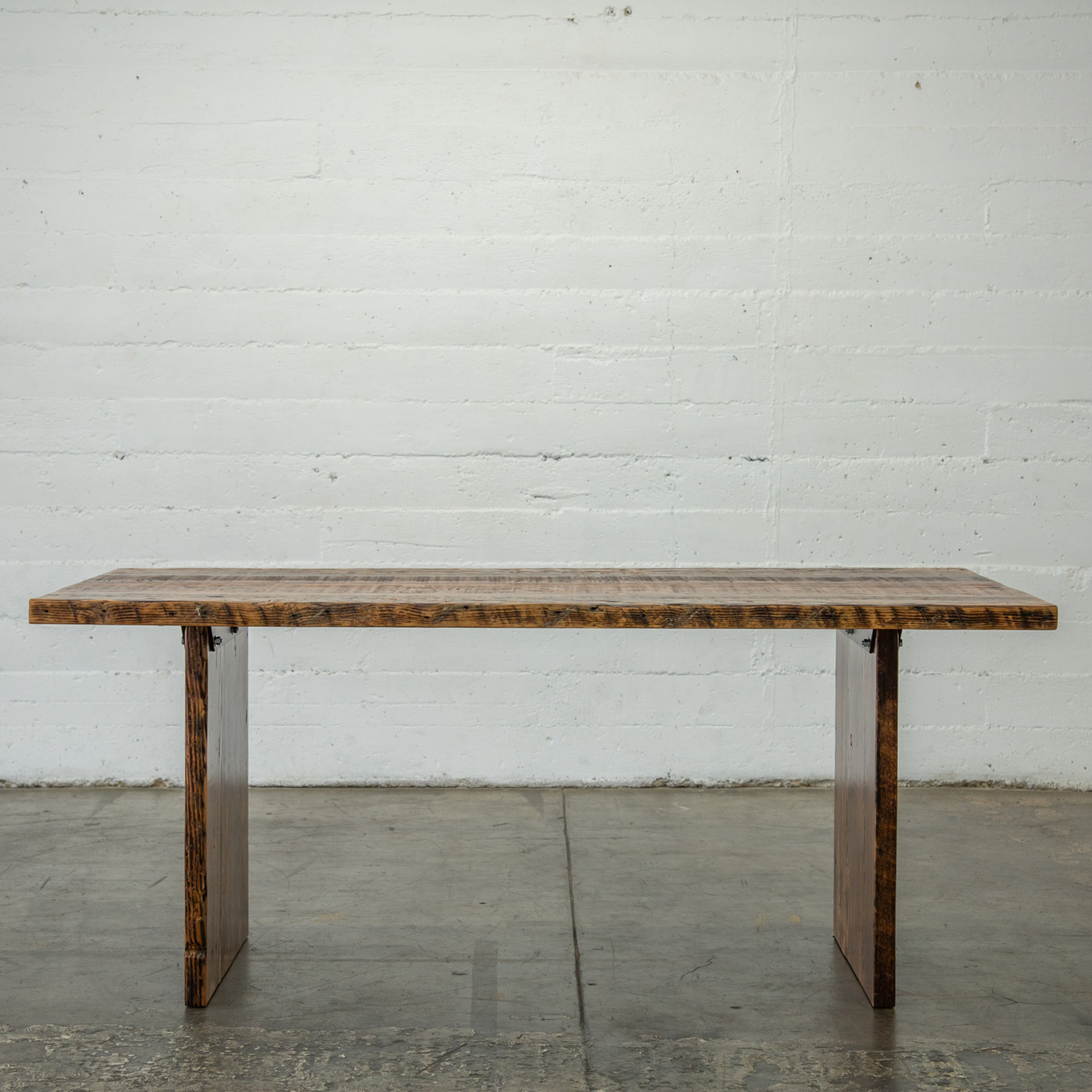 farmhouse solid wood dining table