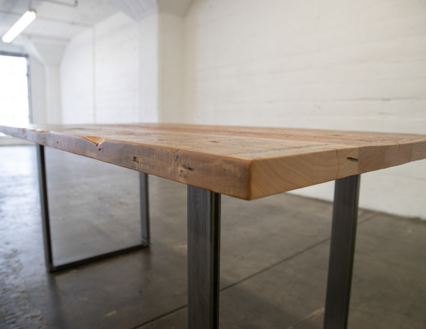 repurposed wood dining table los angeles