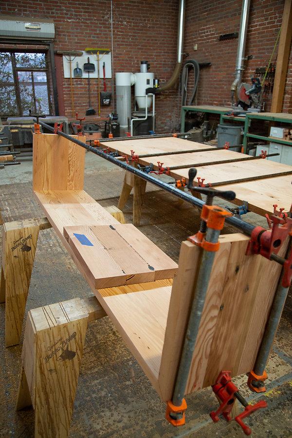 custom wood bench los angeles