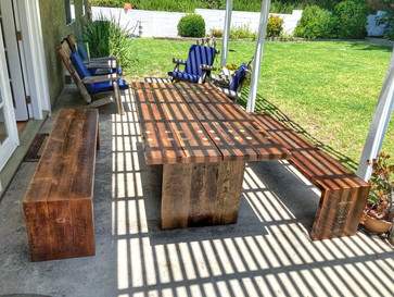 dining table set for outdoor